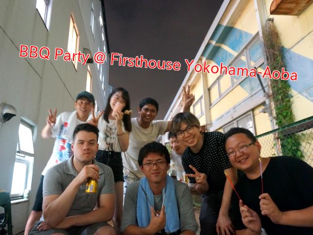 BBQ & Fireworks party @ Firsthouse Yokohama-Aoba