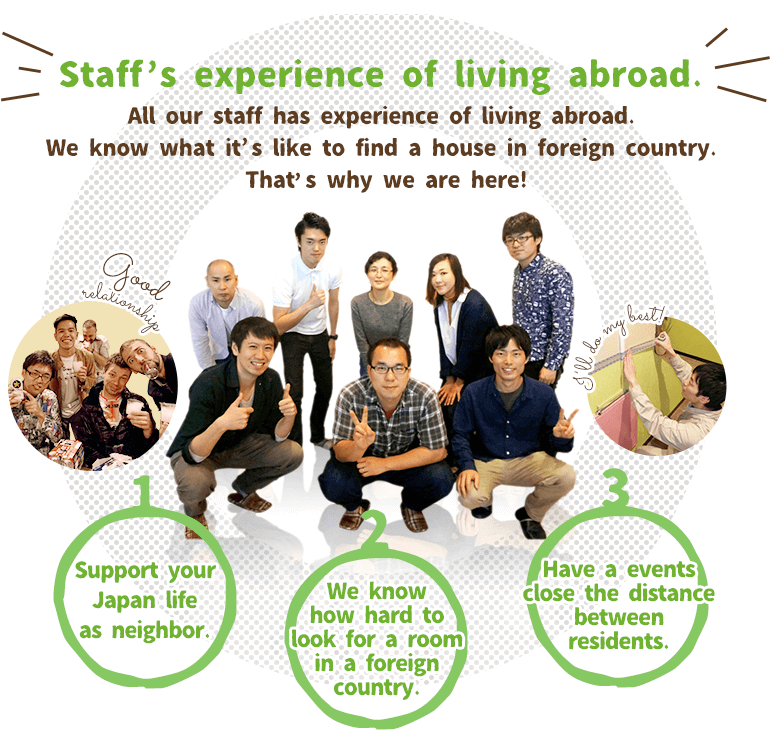 Staff's experience of living abroad.
