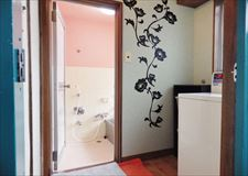 Entrance of shower