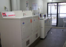 Washing machine and dryer in a common space