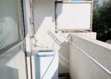 Balcony & washing machine