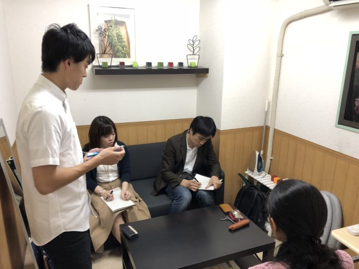 Interview by a newsletters company to the resident of Ma Maison Gakugeidaigaku