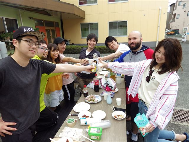 First time of BBQ Party since the new era in Japan has started
