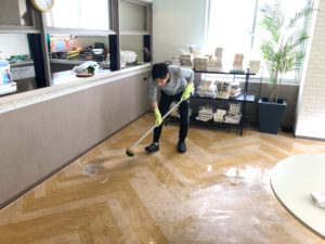 Clean the floor in Yokohama-Aoba