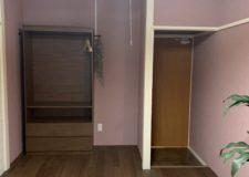 102号室:収納棚もゆったり
