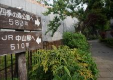 駅と公園の中間地点が物件です