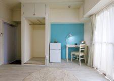 ベッド・AC・机椅子・冷蔵庫は各部屋に完備*