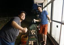 后院的BBQ!