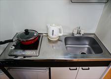 ワンルームですが調理スペースもあります。