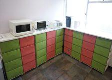 家電も揃っており、部屋毎の収納BOXも完備!