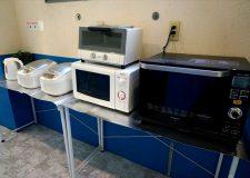 皆で共有できる電子レンジや炊飯器なども。