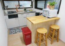 コンパクトながらも使いやすいキッチン!