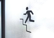 最上階から屋上へ
