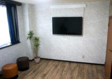 壁掛けのテレビ有ります!