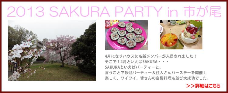 2013 SAKURA PARTY in 市が尾