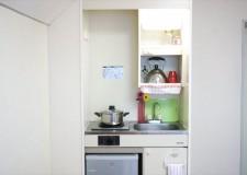 お部屋にはミニキッチンが付いているため、毎日の料理が楽しみ♪